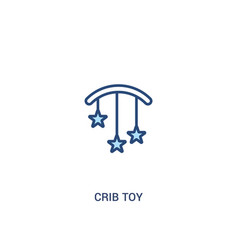 crib toy concept 2 colored icon simple line vector image