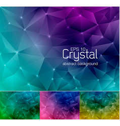 Crystal abstract background 8 vector