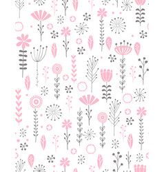 cute abstract floral pattern vector image