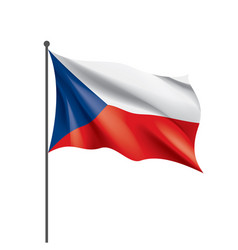 czechia flag on a white vector image