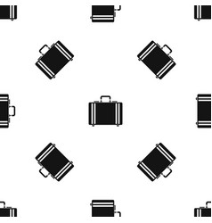 Diplomat pattern seamless black vector