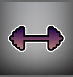 Dumbbell weights sign violet gradient vector