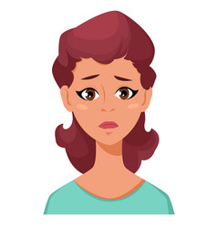 Face expression of a woman - frustration female vector