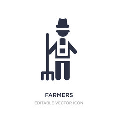 farmers icon on white background simple element vector image