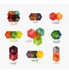 Geometric paper business infographics layouts vector