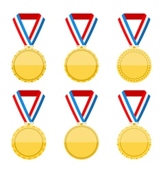 Golden Medals vector
