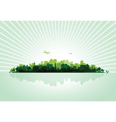 green cityscape vector image
