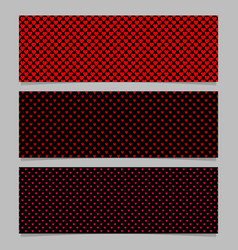 halftone heart pattern banner template background vector image
