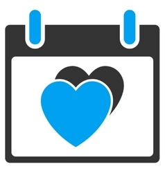 Hearts Calendar Day Toolbar Icon vector