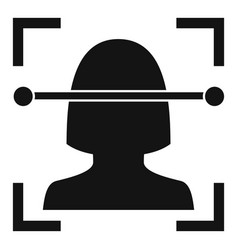 Laser face recognition icon simple style vector