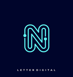 Letter circuit template vector