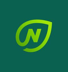 Letter N Logo Leave Vector Images 46