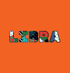 Libra concept word art vector