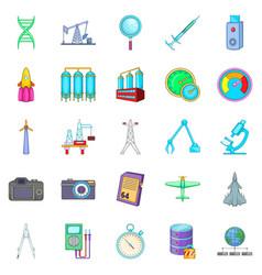Modern icons set cartoon style vector