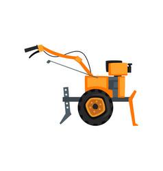 motocultivator agriculture machine garden tiller vector image