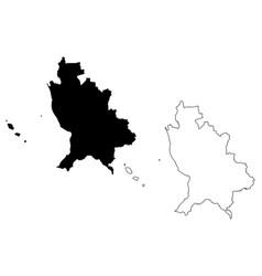 nayarit map vector image
