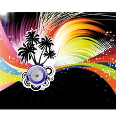 night disco poster vector image
