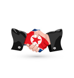 north korea handshake vector image
