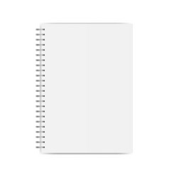 notebook mockup isolated vector image
