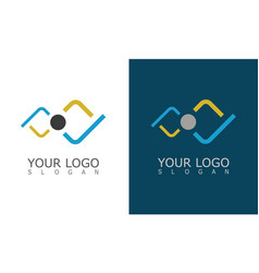 people connect technology logo vector image