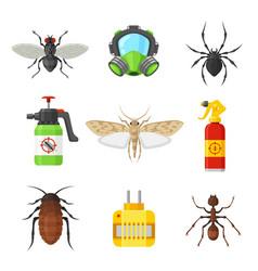 Pest control set vector