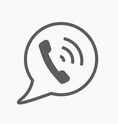Phone call icon style is flat rounded vector