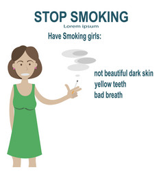 problems smoking women vector image
