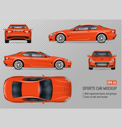 realistic sports car vector image