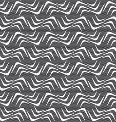 Repeating ornament white wavy corners on gray vector