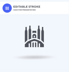 Sagrada familia icon filled flat sign vector