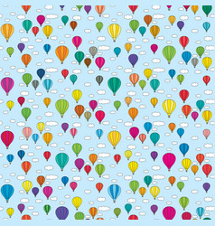 Seamless balloons pattern vector