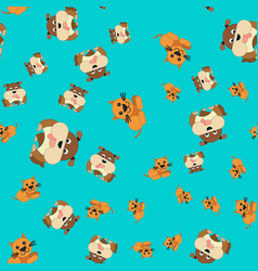 Seamless pattern of cat and dog vector