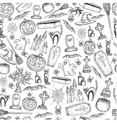 seamless pattern of halloween vector image