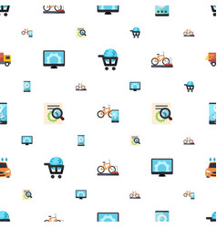 Service icons pattern seamless included editable vector