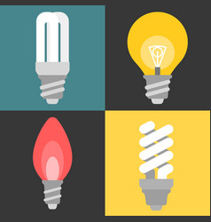 Set light bulb and fluorescent vector