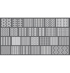 Set of 26 monochrome elegant seamless patterns vector image