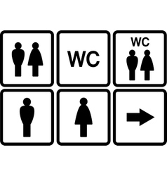 Set of wc icons vector