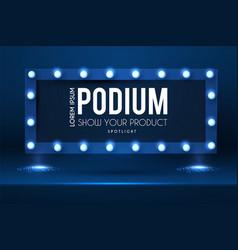show podium with spotlights presentation light vector image