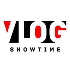 Showtime logo flat style vector