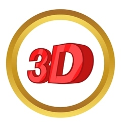 Sign 3d icon vector