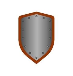 Sign shield silver 1708 vector