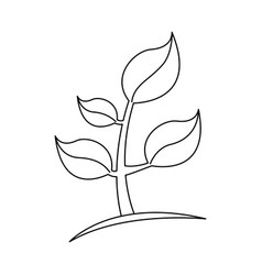 silhouette plant icon stock vector image