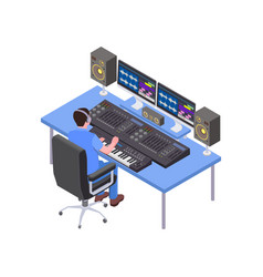 Sound producer icon vector
