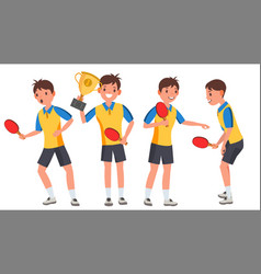 Table tennis young man player man sports vector