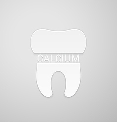 Teeth need calcium vector