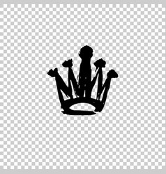 Texture strokes thick paint in the form of a crown vector