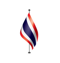 Thailand flag on a white vector