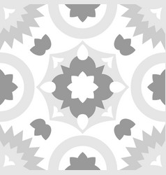 tile grey and white decorative floor tiles pattern vector image