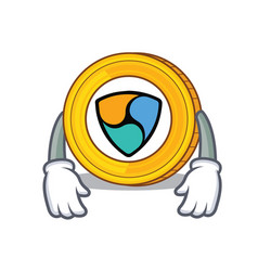 Tired nem coin character cartoon vector