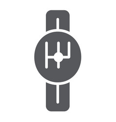 Transmission glyph icon car and part gearbox vector